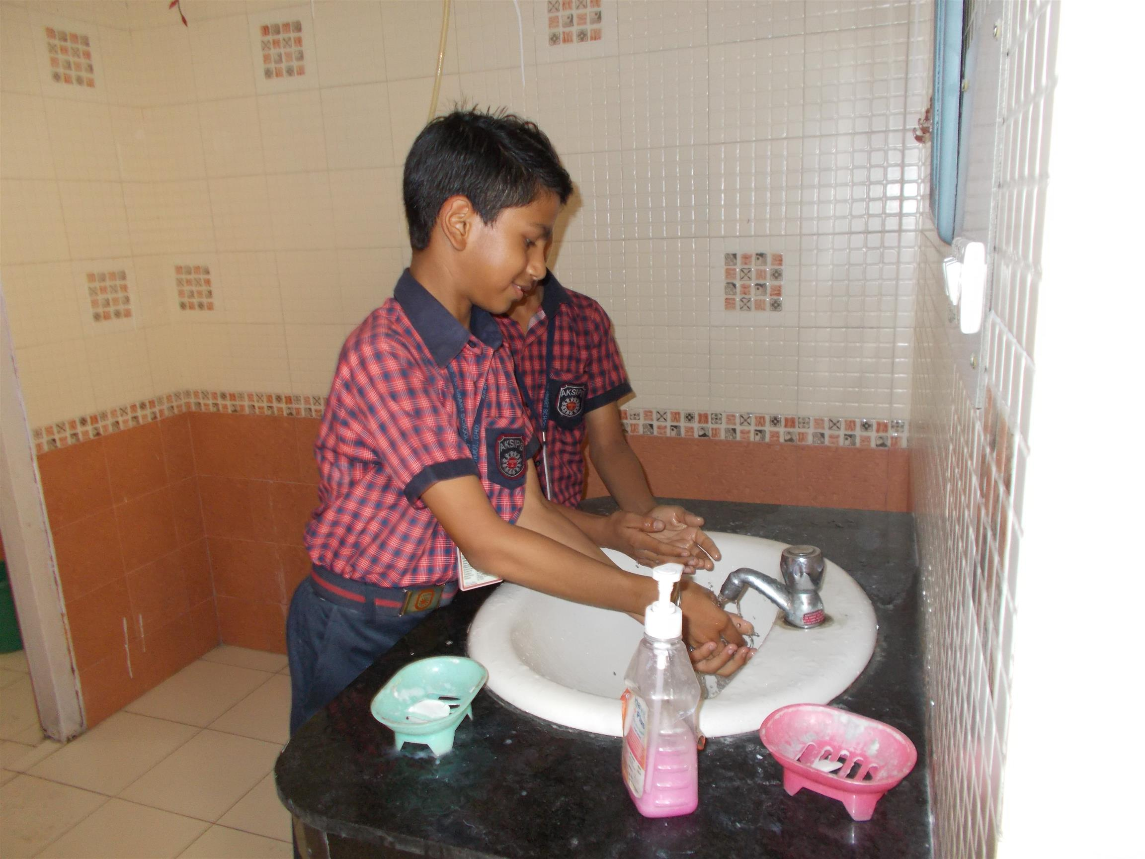 Hand Wash Activity | AKSIPS 45 Chandigarh