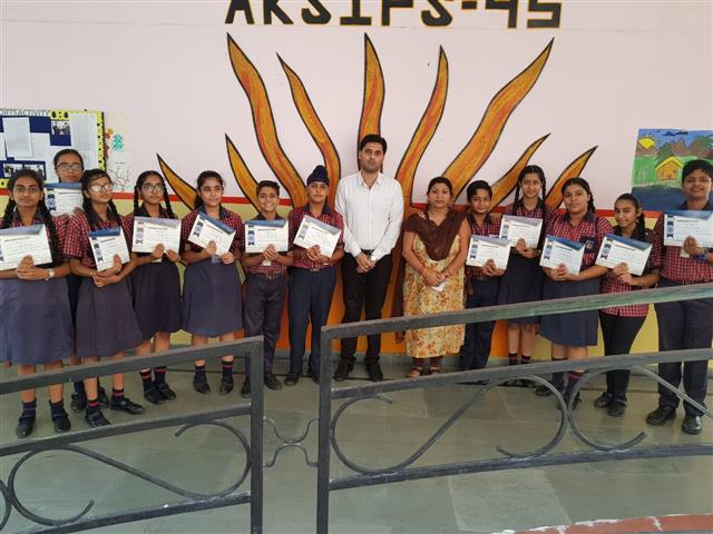 prize Distribution day  | AKSIPS SECTOR-45 CHANDIGARH